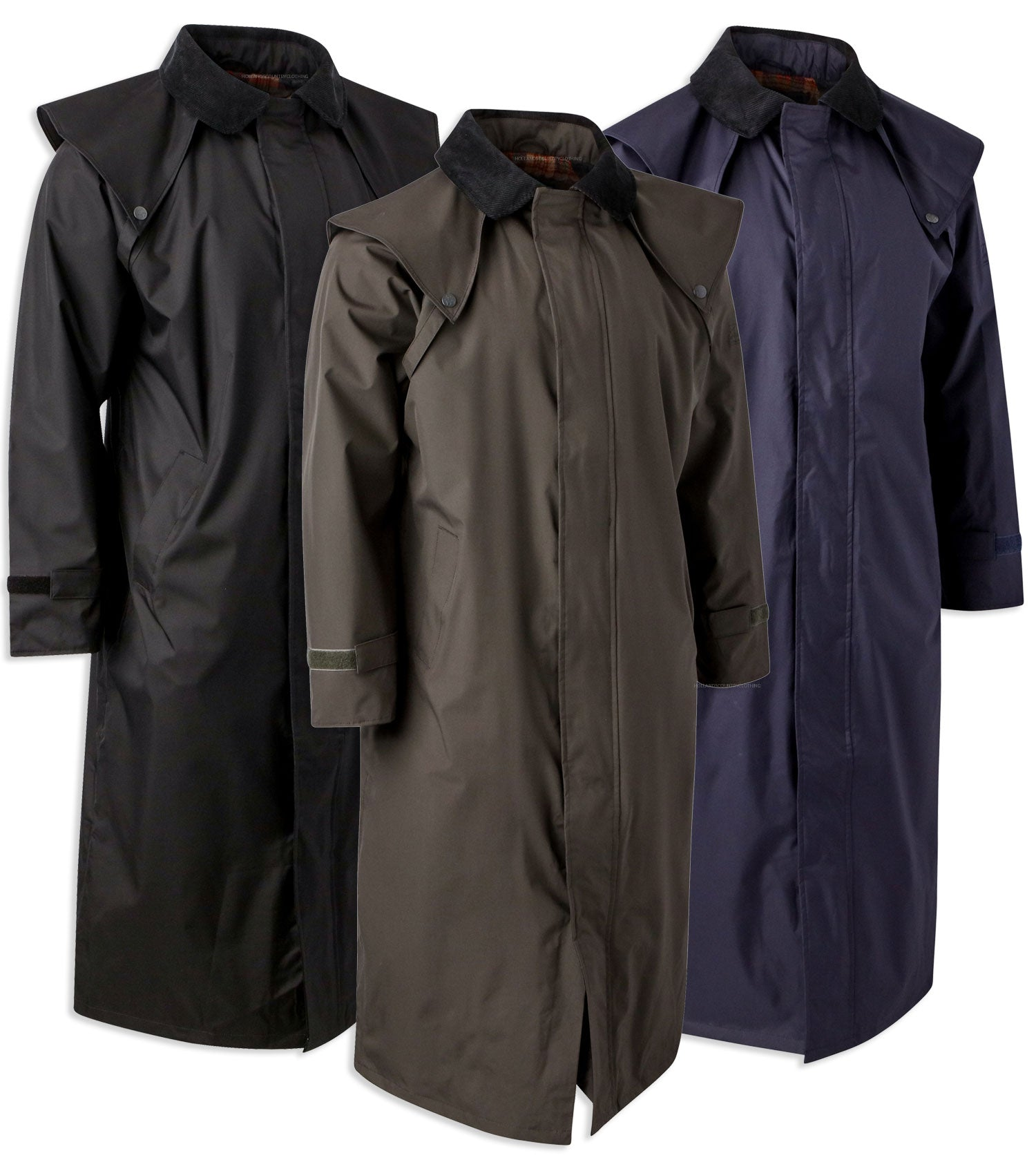 Jack Murphy Lambourne II Men's Long Coat in a Drover Style in three colours