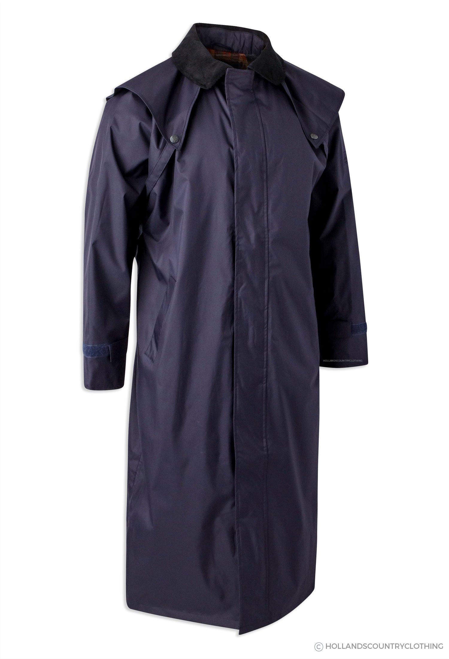navy Jack Murphy Lambourne II Men's Long Waterproof Bush Coat