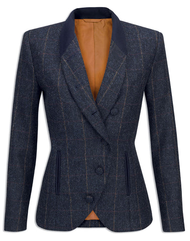 Jack Murphy Nicole Golden Navy Tweed Jacket