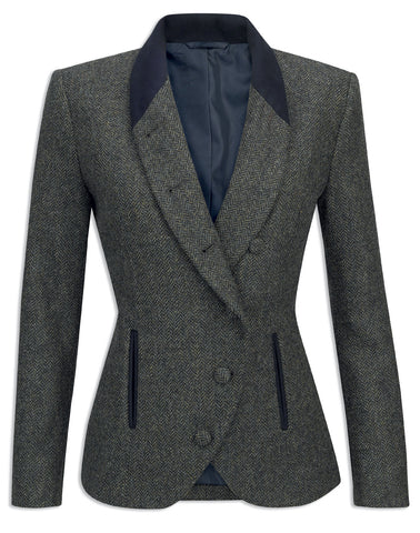 Jack Murphy Nicole Winter Rust Herringbone Tweed Jacket