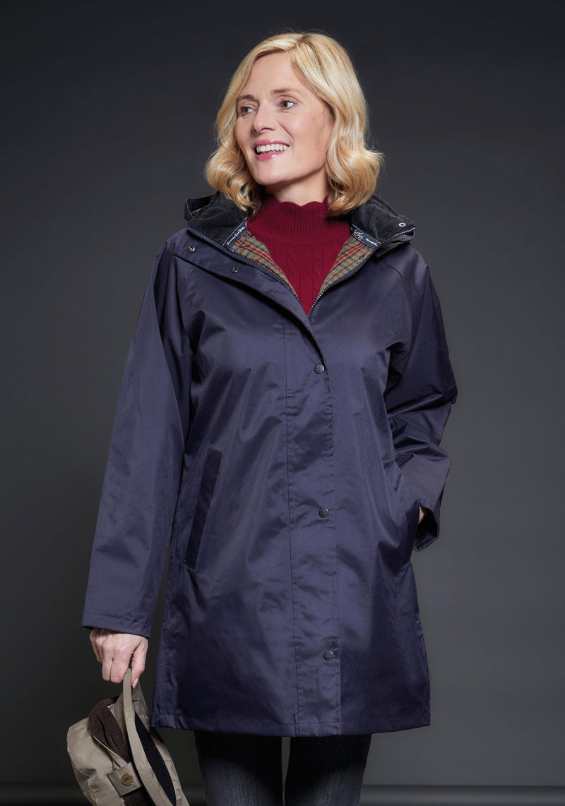 NAvy Ladies OXFORD Waterproof Coat by Jack Murphy