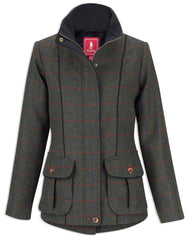 Jack Murphy Prue Tweed Jacket | Check Green