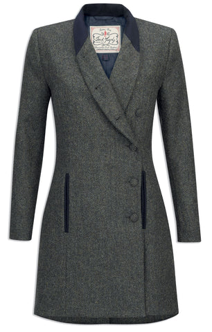 Jack Murphy Robin Tweed Coat - Winter Rust Herringbone