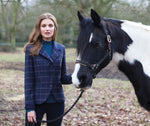 Equestrian Tweed hacking jacket with horse and rider