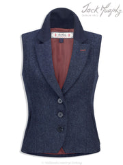 Jack Murphy women's Tweed Gilet - Navy Delight