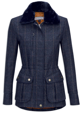 Jack Murphy Ashley Tweed Jacket - Golden Navy Wonder