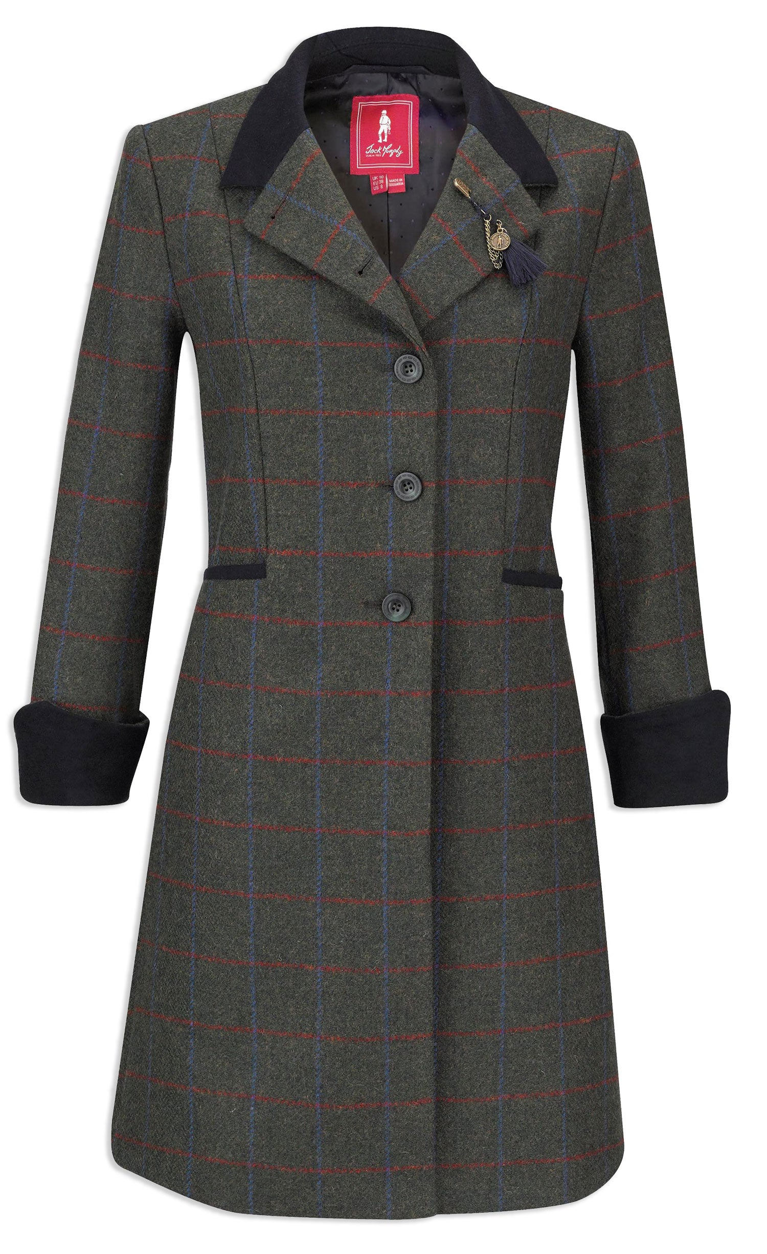 Jack Murphy Isabella Tweed Coat A statement ladies tweed coat style with a lovely drape