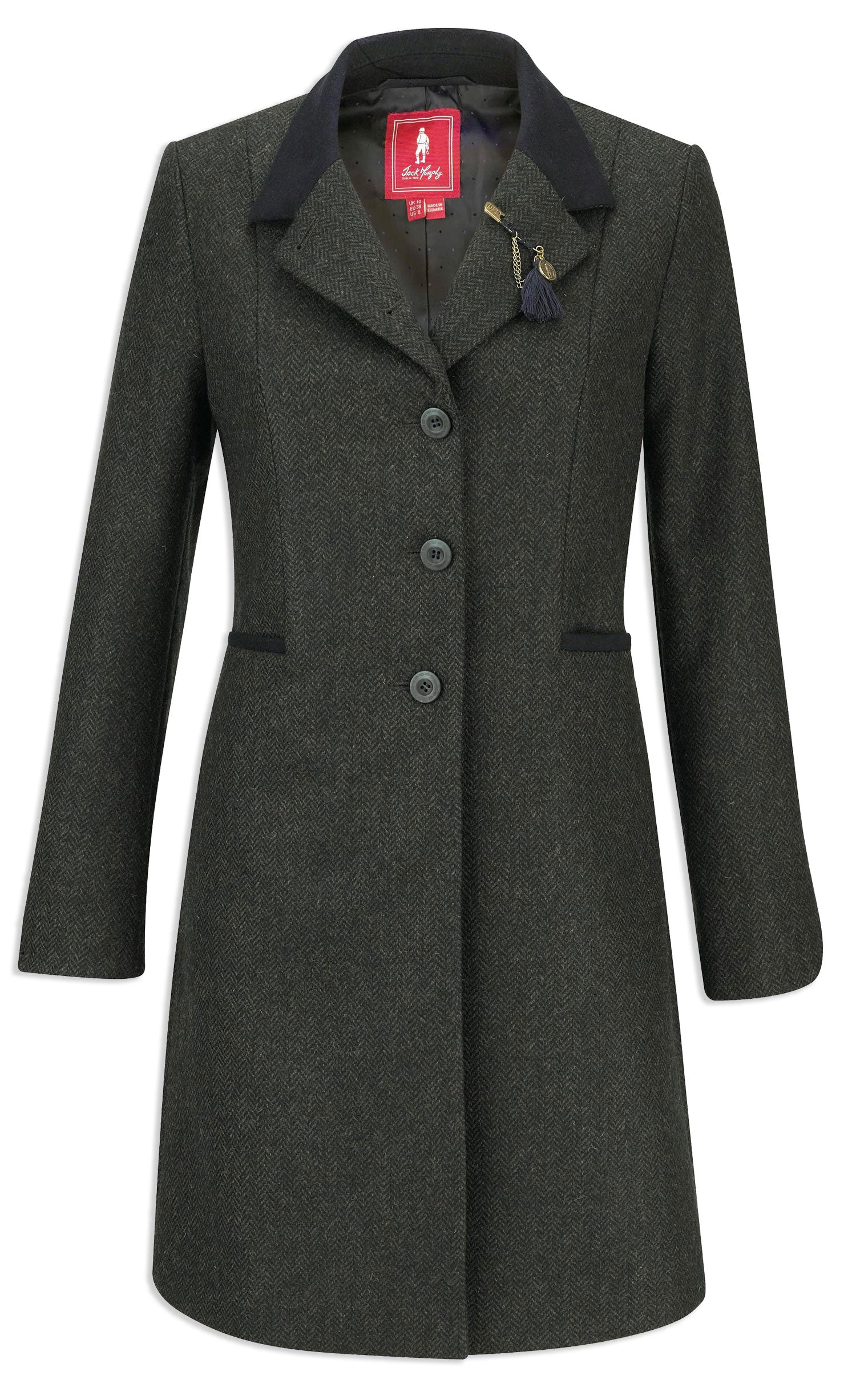 Jack Murphy Isabella Tweed Coat | Green pure wool check