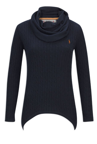 Jack Murphy Tiffany Cowl Neck Sweater | Heritage Navy
