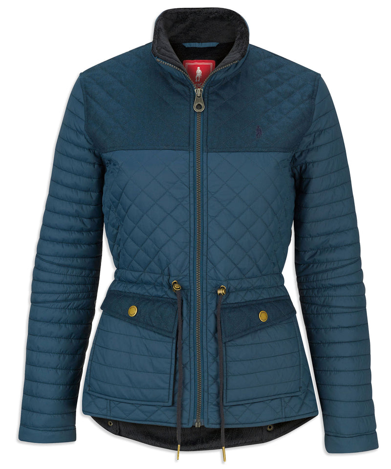 Forest Teal Mix jack murphy ladies quilted jacket