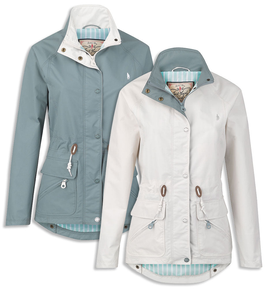 Valda Ladies Summer Waterproof Breathable Jacket in white and perfect every day