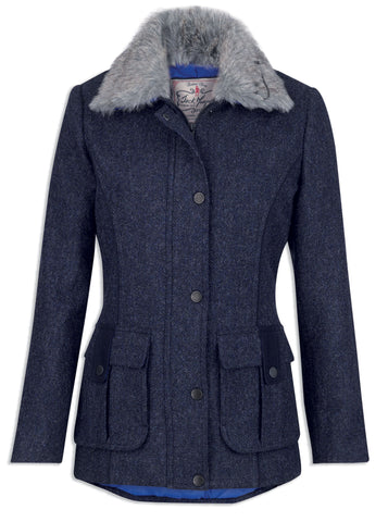 Jack Murphy Ester Jacket in Navy Herringbone Tweed