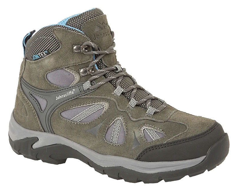 Johnscliffe Adventure Ladies Hiking Boots \Charcoal Sky Blue