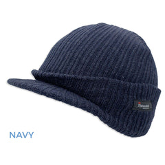 Navy Thinsulate Knitted Peaked Watch Cap