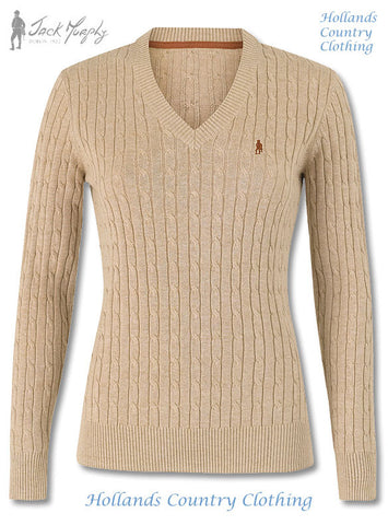 Jack Murphy Classic Ladies V Neck Pullover