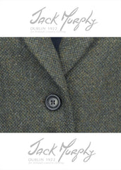 Three button ladies hacking jacket in tweed