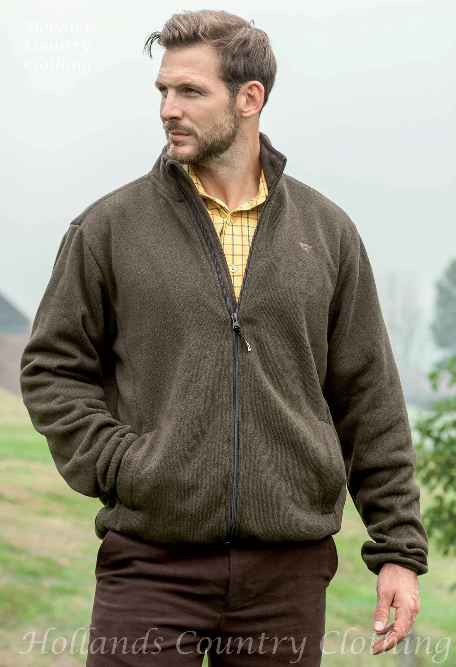 man wearing Hoggs Kelso Prestige Knitted Jacket