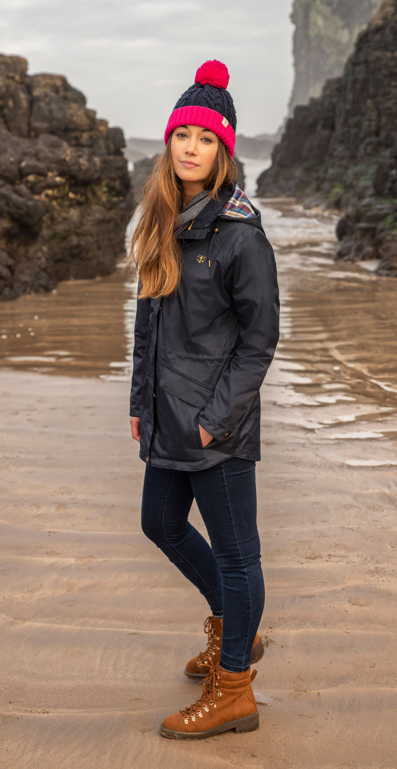 Worn on the beach Navy coat
