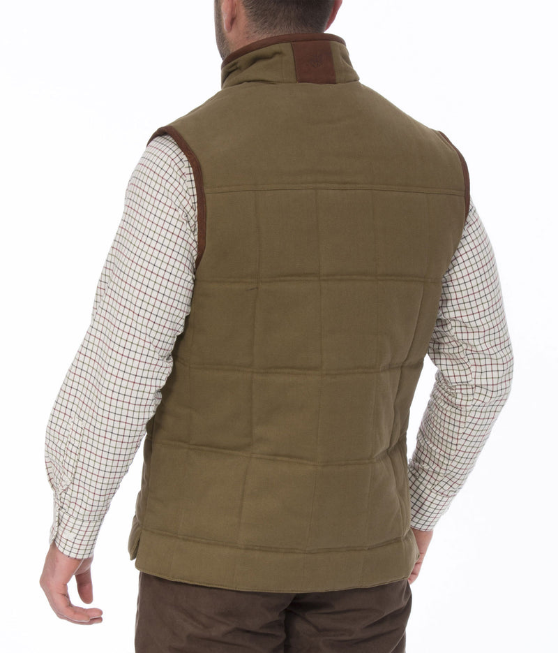 Back view Kexby Men's Quilted Gilet by Alan Paine