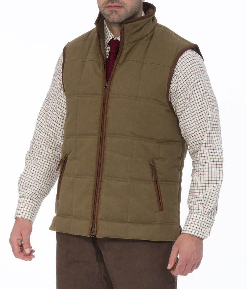 Kexby Men's Quilted Gilet by Alan Paine