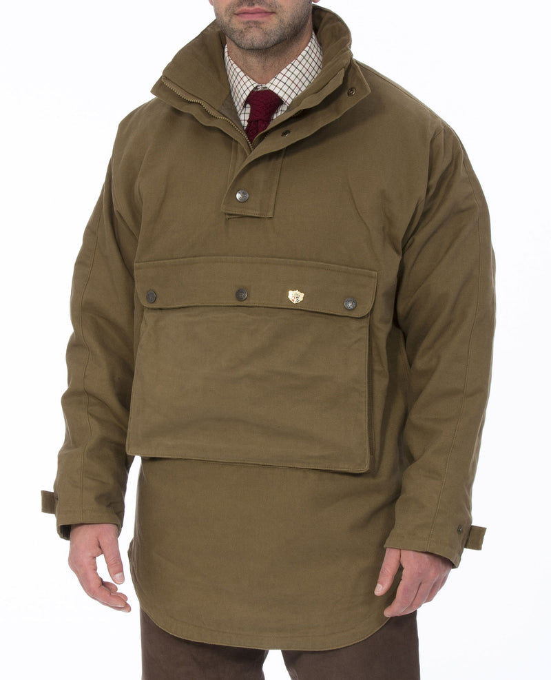 Khaki Kexby Men's Waterproof Smock Jacket by Alan Paine