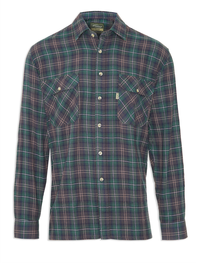 Tartan Lumberjack Shirt Kilbeggan by Champion in three traditional Tartans Colours, Green Plaid.