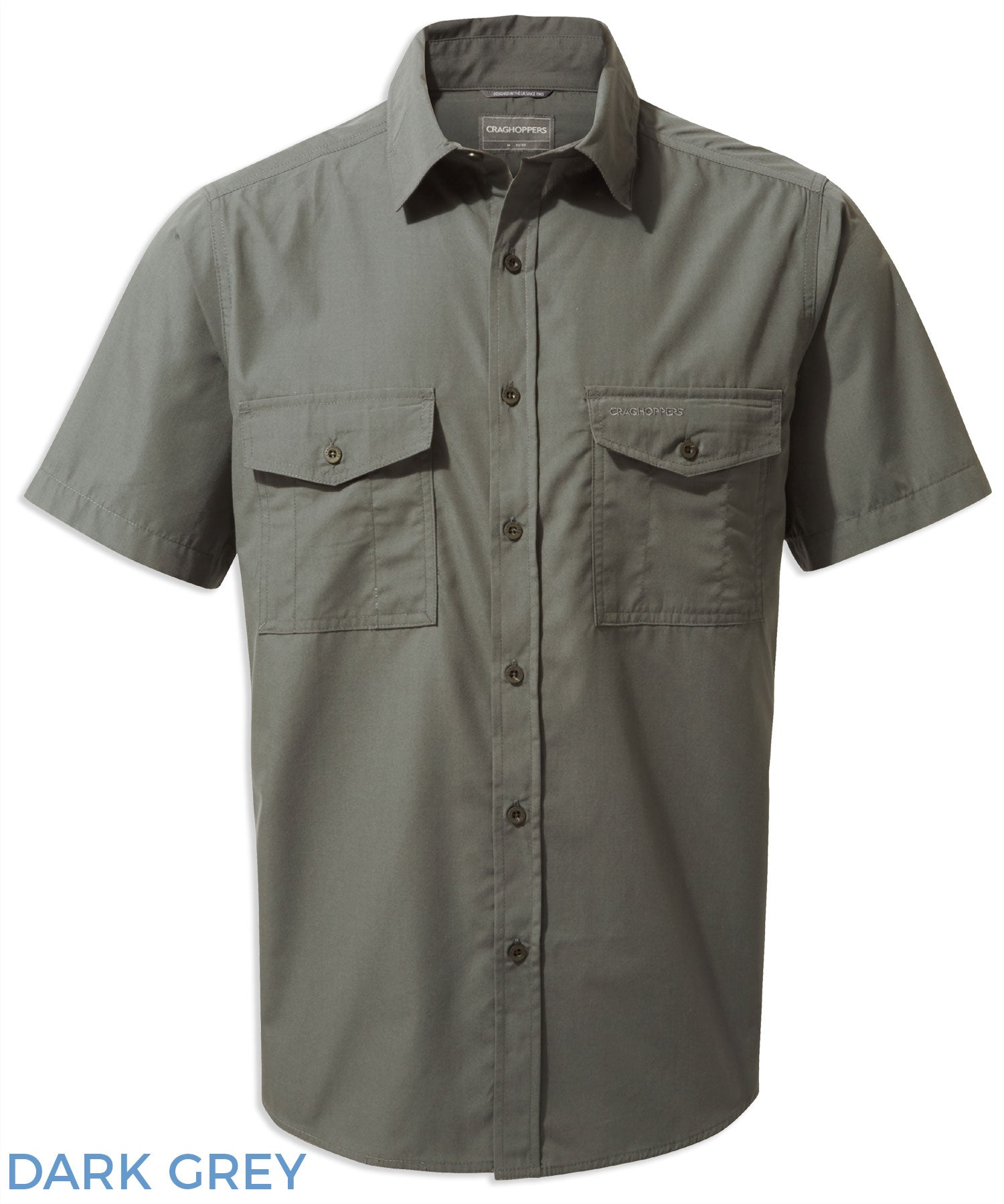 Craghoppers Kiwi Short Sleeved Shirt - Dark Grey
