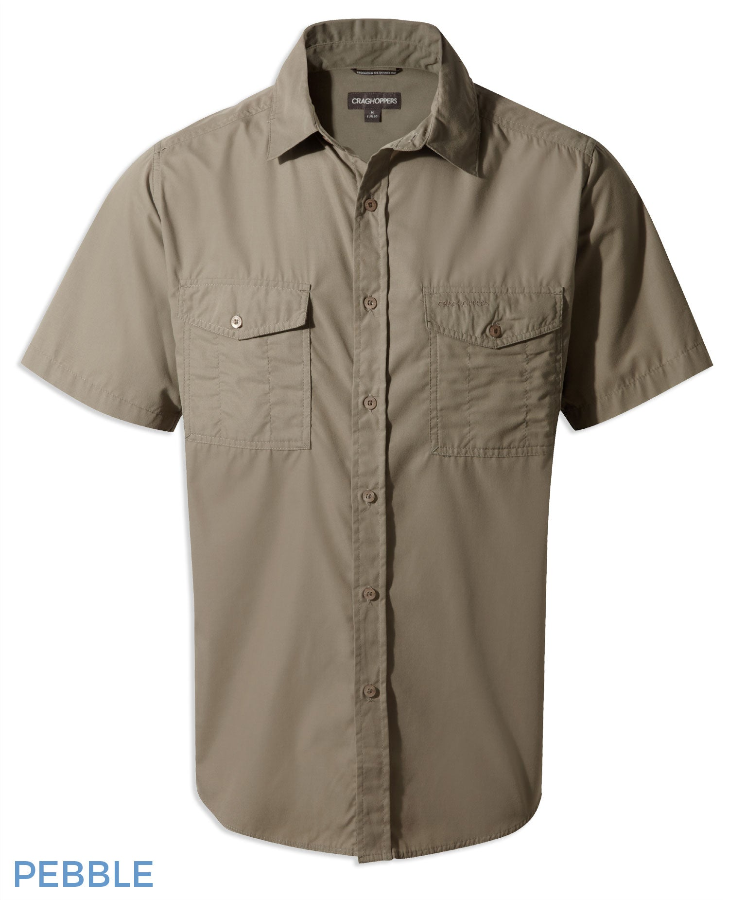 Craghoppers Kiwi Short Sleeved Shirt - Pebble