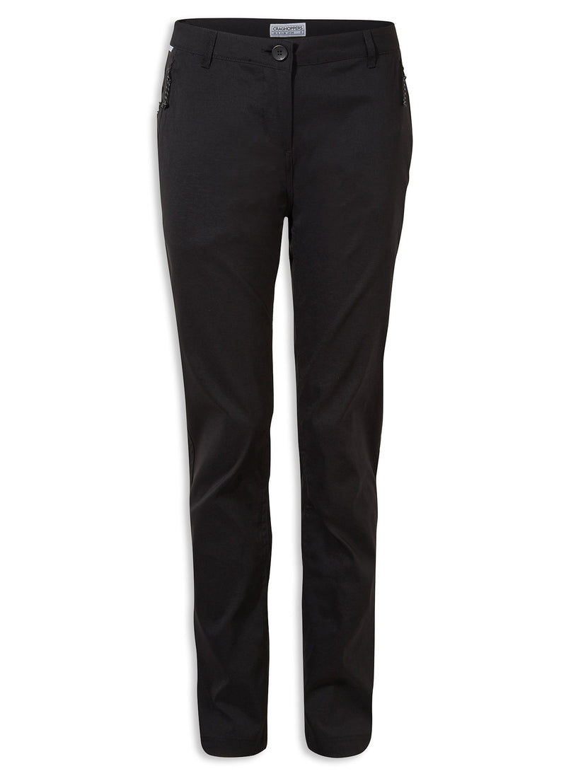 Black Craghoppers Kiwi Pro II Ladies Trousers