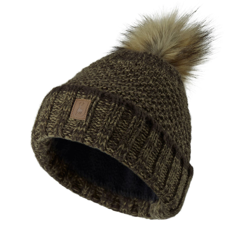 Deerhunter Ladies Knitted Hat faux fur Bobble hat