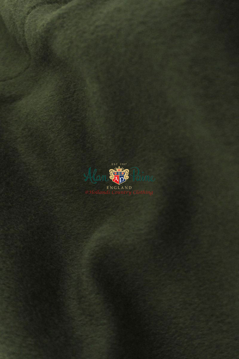 loden wool fabric in olive green