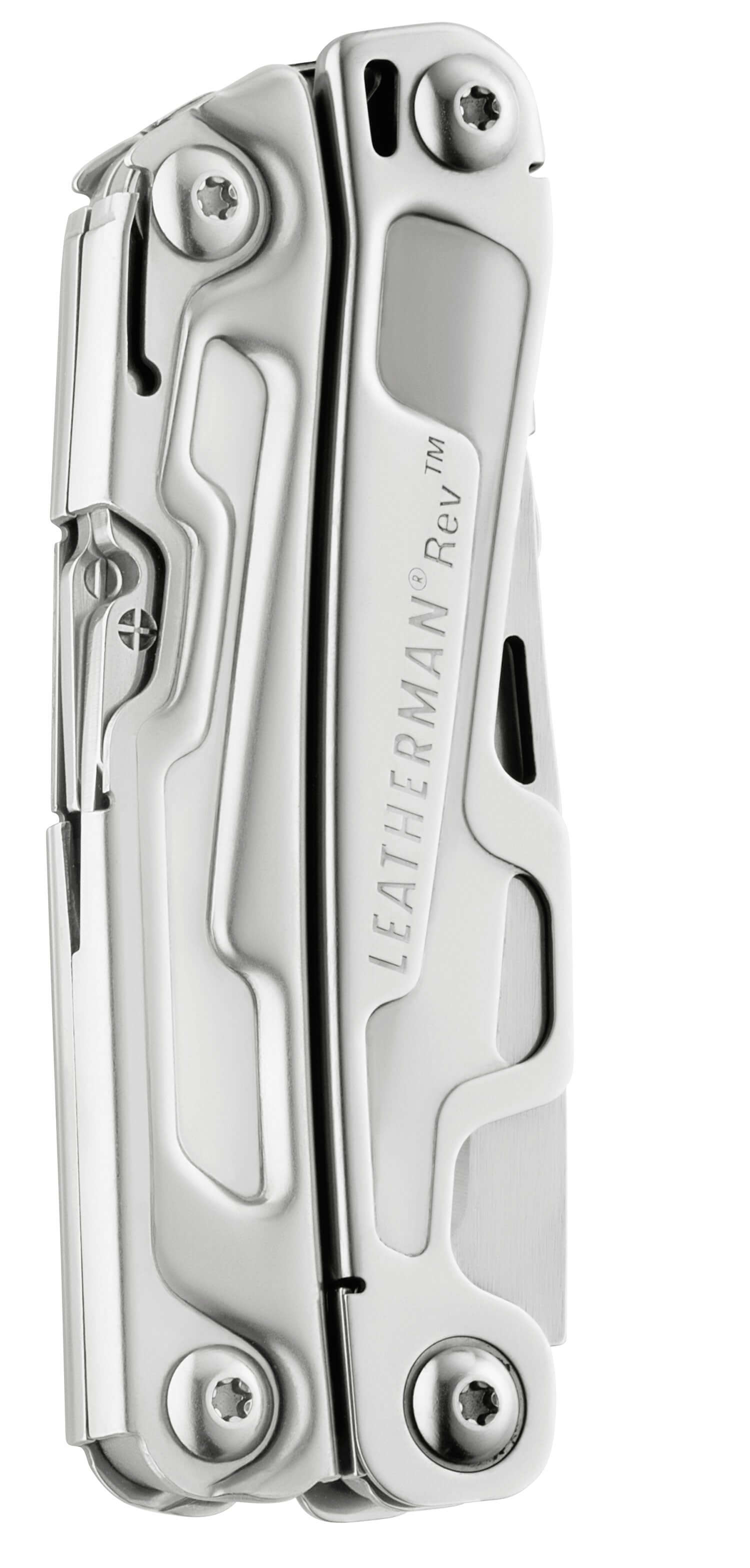 folded Leatherman Rev Multi-Tool - Stainless Steel