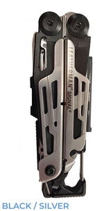 Black and silver Leatherman Signal®+ Multi-Tool  closed