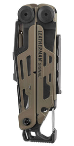Closed Leatherman Signal®+ Multi-Tool W/ Nylon Sheath | Coyote & Black