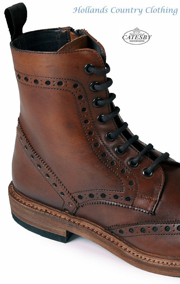24766cd4027 Catesby All Leather Brogue Lace Up Derby Boot – Hollands Country ...
