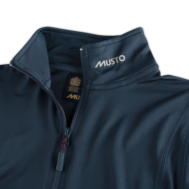 Musto Navy Collar Logo