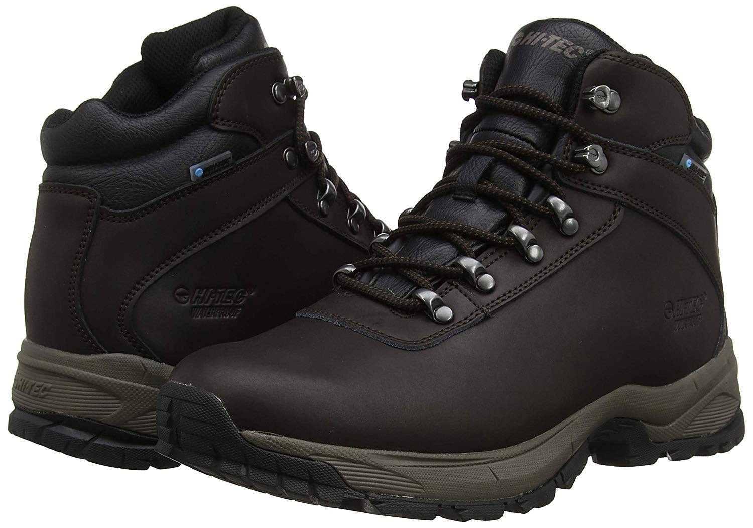 Chocolate Leather ladies hiking boots hiTec