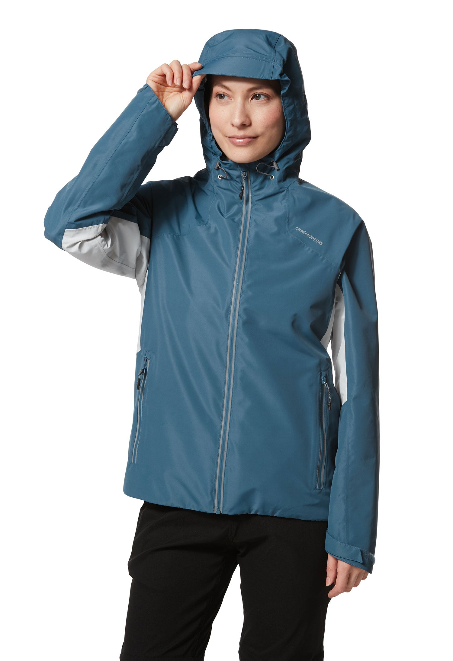 Nood up Teal Horizon Waterproof Women's Jacket by Craghoppers