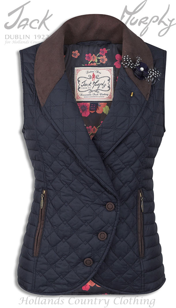 Jack Murphy Victoria ladies Quilted riding Waistcoat