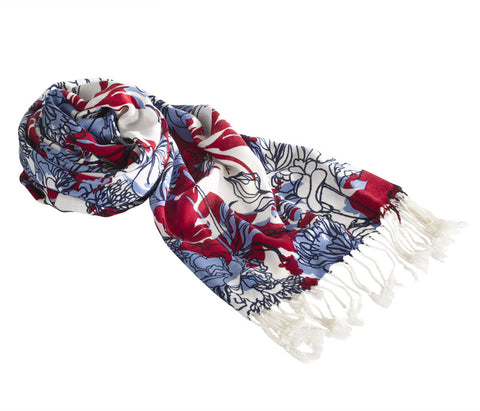 Jack Murphy Summer Scarf | Red, Navy, Blue