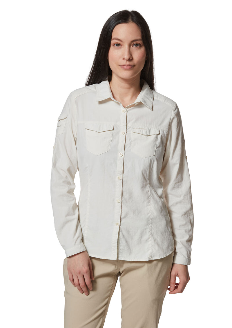 Ladies Adventure Shirt II by Craghoppers in sea salt