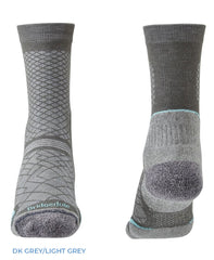 Dark Grey Ladies Hike Ultra Light Coolmax® Boot Sock by Bridgedale