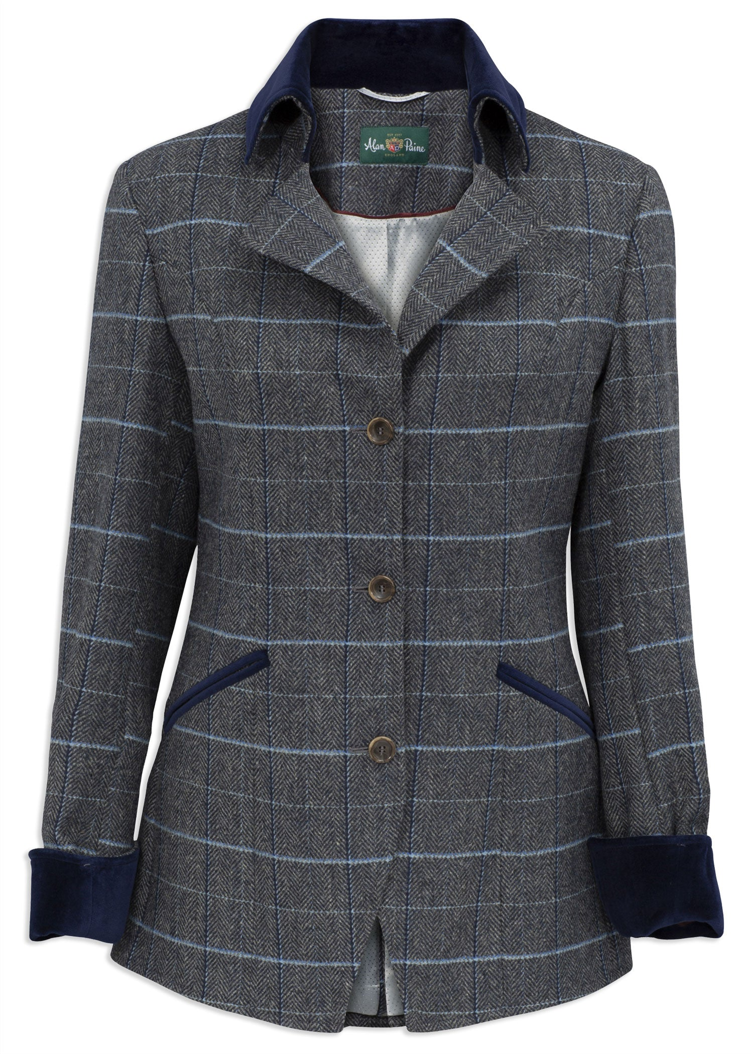 Alan Paine Surrey Tweed Jacket | Lake Blue