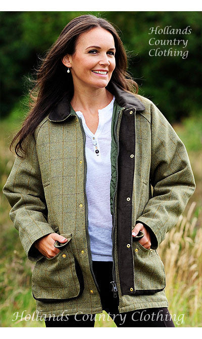 woman wearing bronte Classic Country Tweed Field Shooting jacket