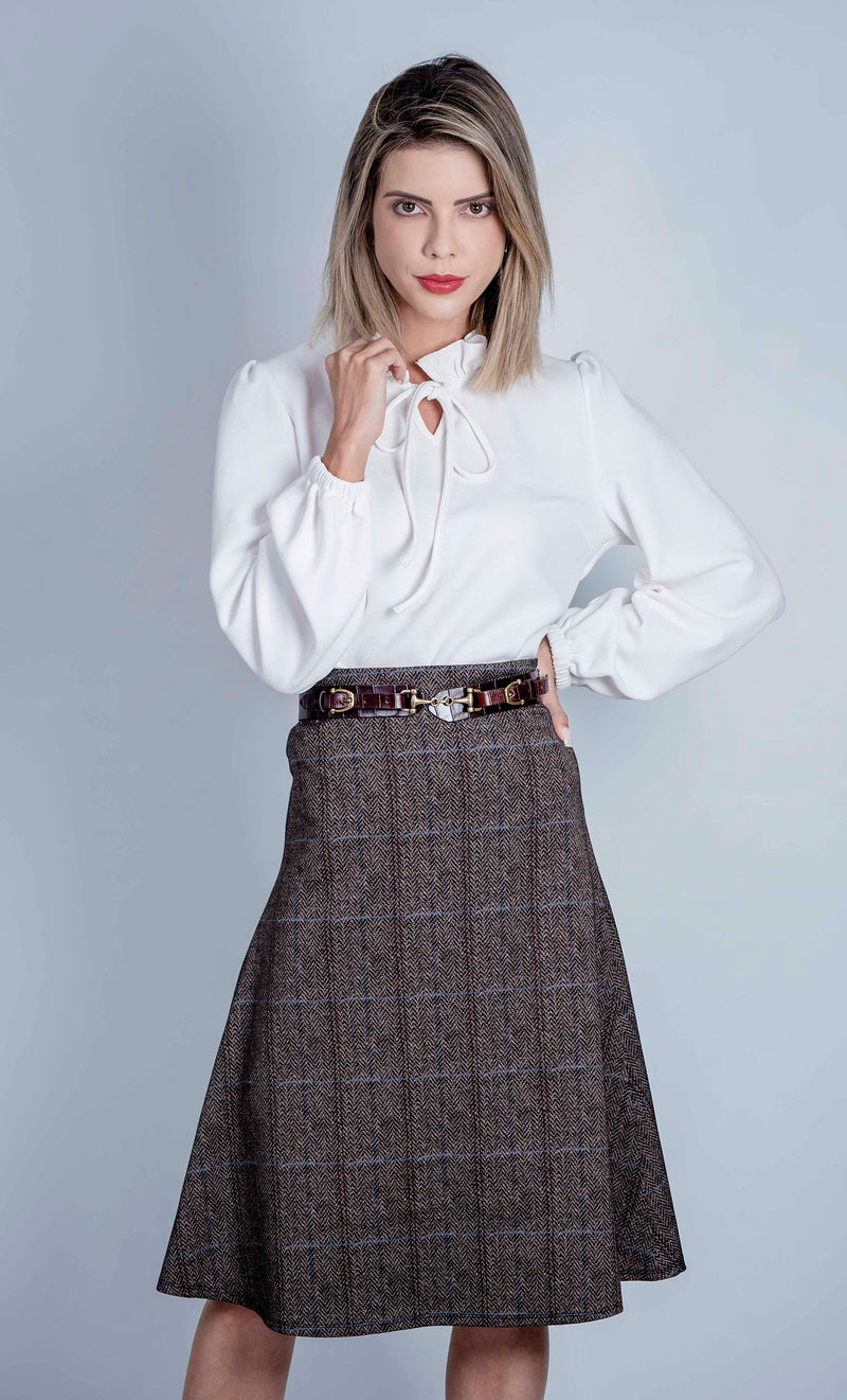 Tweed look Hartwell Pat Travel Skirt