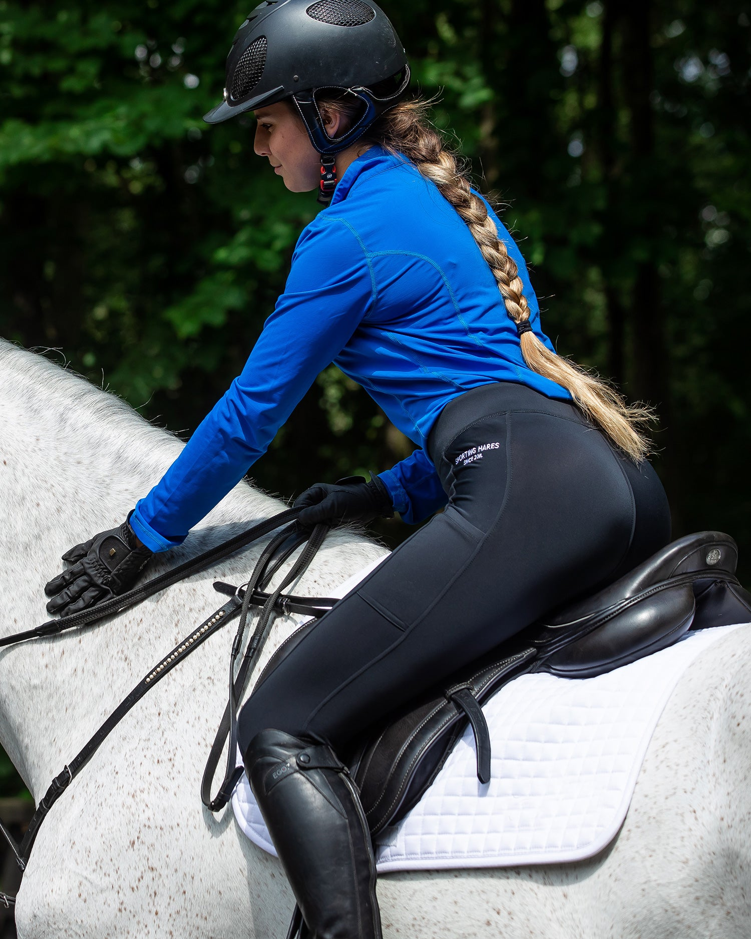Riding wearing Sporting Hares Victorious Thermal Riding Leggings