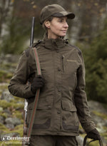 dark elm colour Lady Christine Waterproof Jacket by Deerhunter