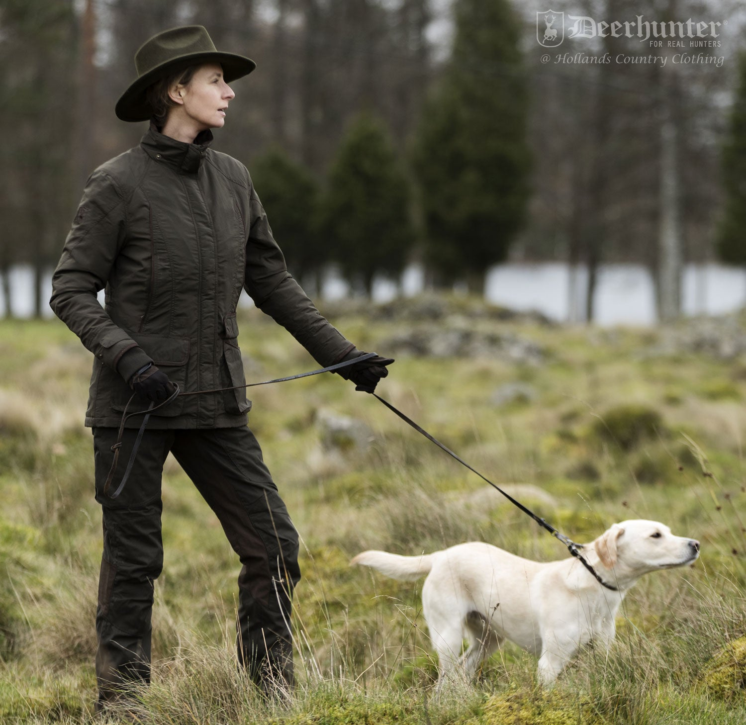 walking a labrador Lady Josephine Waterproof Jacket by Deerhunter