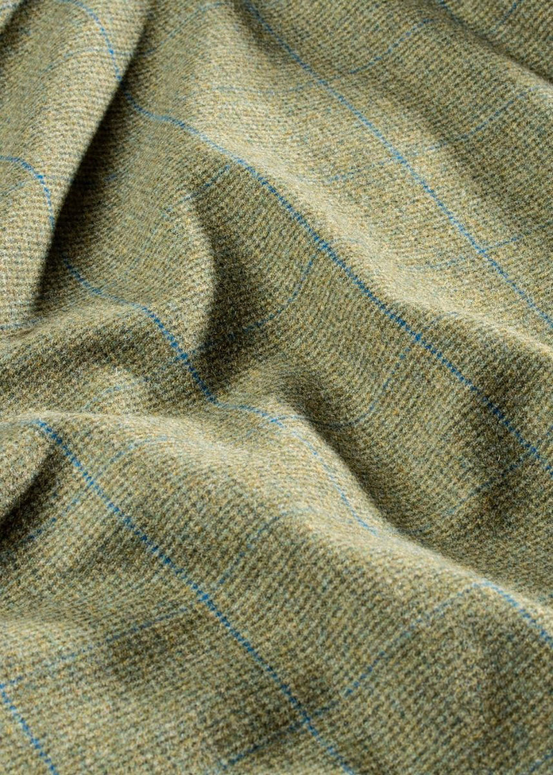 Lagoon wool tweed in Green with Blue overcheck