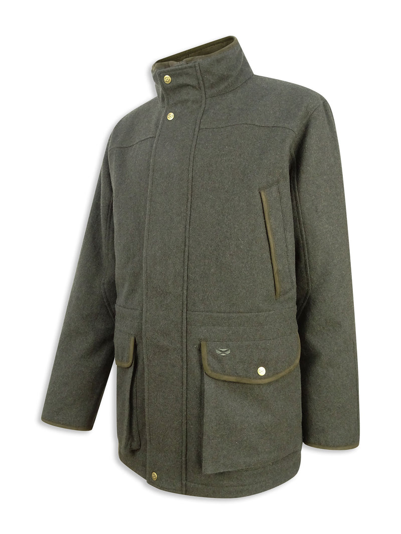 Dark Olive Hoggs of Fife Lairg Waterproof Wool Jacket